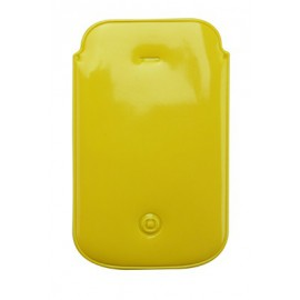 Pochette téléphone PVC jaune