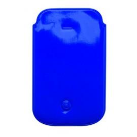 Pochette téléphone PVC bleu