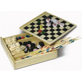 Set de 5 jeux dans coffret en bois
