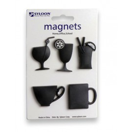 Assortiment de 5 magnets cocktail
