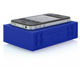 Amplificateur de son pour smartphone en silicone - bleu