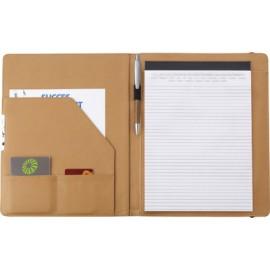 Conférencier A4 en liège avec bloc note et stylo