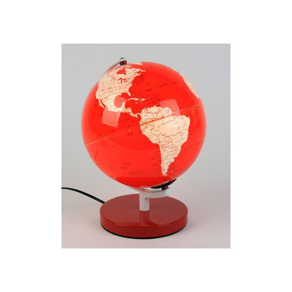 lampe de bureau rouge en forme de globe terrestre equinoxe cadeaux. Black Bedroom Furniture Sets. Home Design Ideas