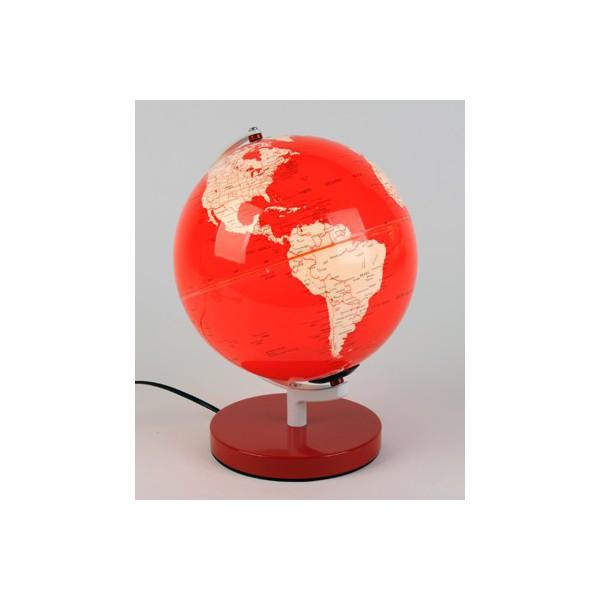 En Terrestre Bureau Rouge Equinoxe De Forme Cadeaux Globe Lampe gv7yf6bY