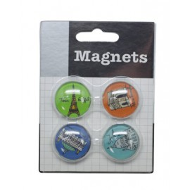 Set de 4 magnets motifs monuments de Paris