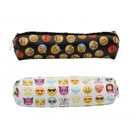 Trousse motifs emoji, couleurs assorties