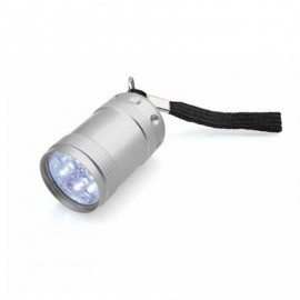 Mini lampe torche aluminium silver 6 LED avec dragonne