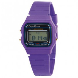 Montre Newave violet chrono, alarme