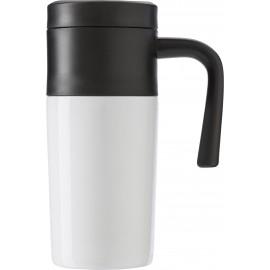 Mug hermétique en acier inoxydable blanc