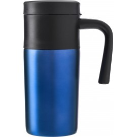 Mug hermétique en acier inoxydable bleu