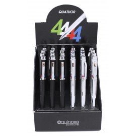 Stylo bille métal quatre couleurs ,display de 24 pcs