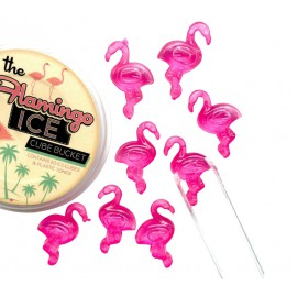 Set of 20 flamingo ice cubes