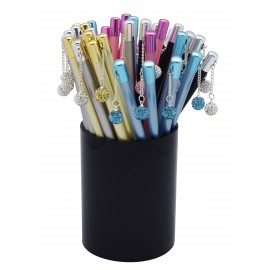 Colorful pencils with diamond charm