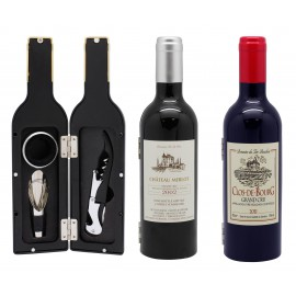 Bottle shaped wine set, 3 pieces