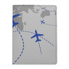White passport holder + luggage tag