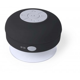 Black bathroom Speaker, Bluetooth Connection, USB Rechargeable