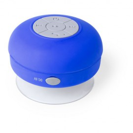 Blue Bathroom Speaker, Bluetooth Connection, USB Rechargeable