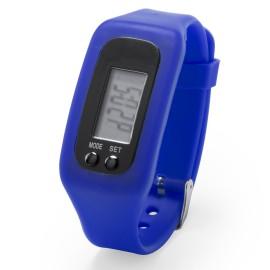 Montre podomètre bleue rétro-éclairée avec alarme