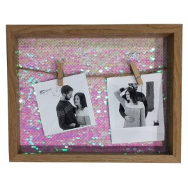 Photo holder with 2 glitter clips x6
