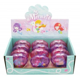 Eraser mermaid shaped in display x 12