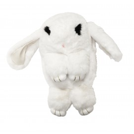 White  fur backpack, rabbit shape