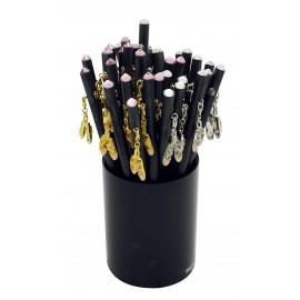 Crayon à papier attribut strass +ballerine metal doré ou argenté x 36