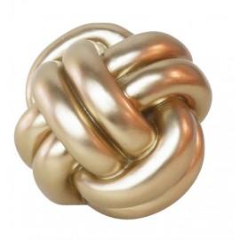 Tirelire céramique forme noeud doré