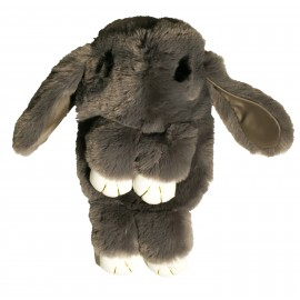 Grey fur backpack, rabbit shape