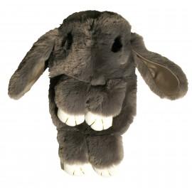 Sac à dos lapin fourrure gris