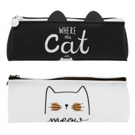 Trousse chat noire et blanche