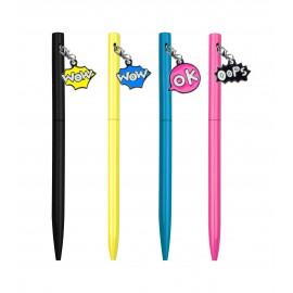 Comics bubble charms ballpen, assorted x24pcs
