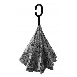 Parapluie inversé dentelle noire et blanche