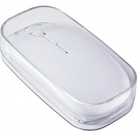 White wireless optical mouse