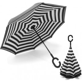 Reversed umbrella stripe design