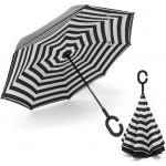 Reversed umbrella stripe design