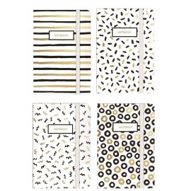 Display of white black and gold, assorted design A7 size x 24 pcs