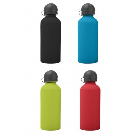 Aluminum gourd, rubber touch, 600 ML, assorted colors