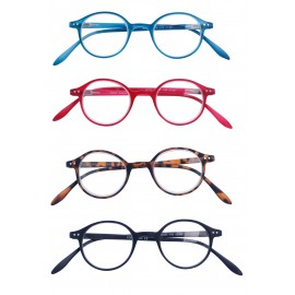 Glasses round shape X 4 black pcs
