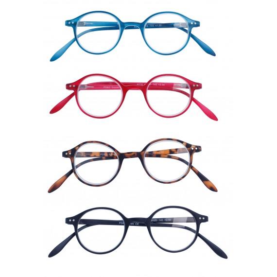 Glasses round shape X 4 black pcs
