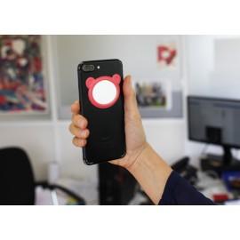 Miroir sticker pour téléphone, 4 designs et couleurs assortis, x 32 pcs