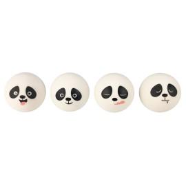 Gommes en forme de tête de panda, 4 dessins assortis, x 24 pcs