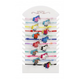 Unicorn bracelet assorted colors x 12