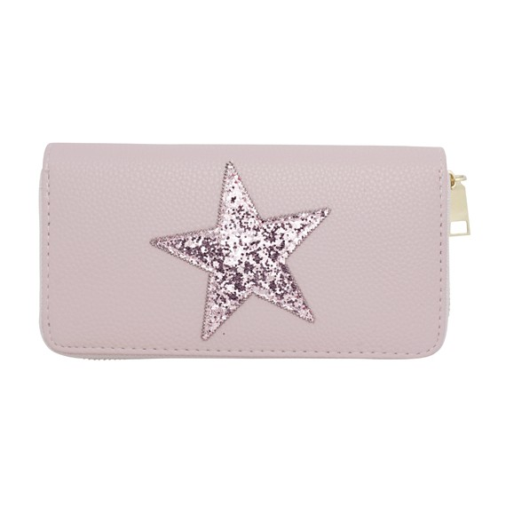 Black pouch with star pattern