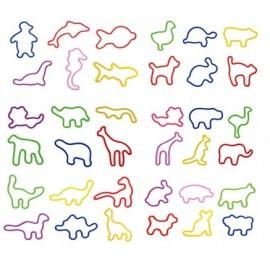 Set de 12 'rubber bands' animaux x 24