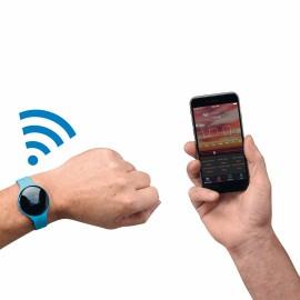 Bracelet d'activité connecté bleu compatible Bluetooth®