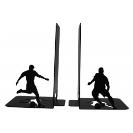 Black metal football bookend