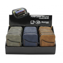 Credit card holder with skimming protection, soft PU
