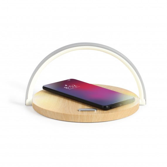2-in-1 touch bedside lamp, 36 LED, wireless charger