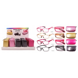 Magnifying  foldable glass display, assorted colours