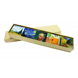 Acrylic magnets sets, klimt, Van Gogh and Monet themes, assorted x 6 pcs